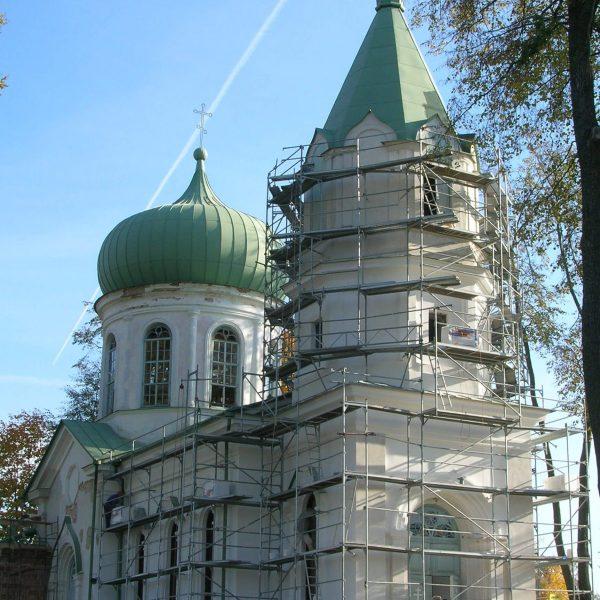 Rusztowanie cerkiew w Narewce